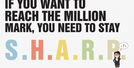IF YOU WANT TO REACH THE MILLION MARK, YOU NEED TO STAY S.H.A.R.P
